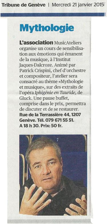 2015-01-21 TRIBUNE DE GENEVE Aujourd'hui