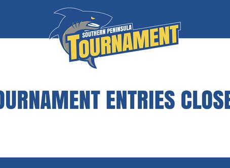 Tournament entries closed