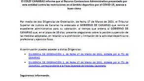 NDP - EL COLEFC informa sobre el Recurso Contencioso Administrativo contra el Gobierno de Canarias