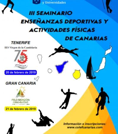III SEMINARIO DE ENSEÑANZAS DEPORTIVAS Y ACTIVIDADES FÍSICAS DE CANARIAS - Tenerife 20 Feb - Gran Ca