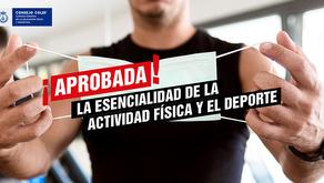 Se aprueba en el Congreso que la actividad física y el deporte se declaren esenciales.