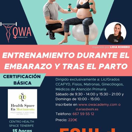OWA FORMACIÓN: Entrenamiento durante el embarazo y tras el parto - 23/24 Noviembre en Tenerife