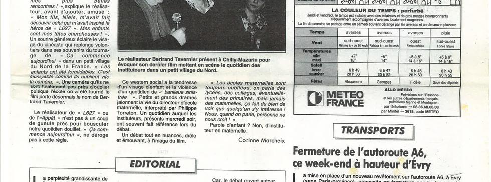 Tavernier Le républicain 1999 - Article