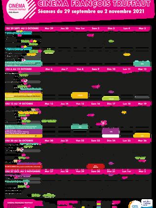 Grille des horaires d'octobre 2021
