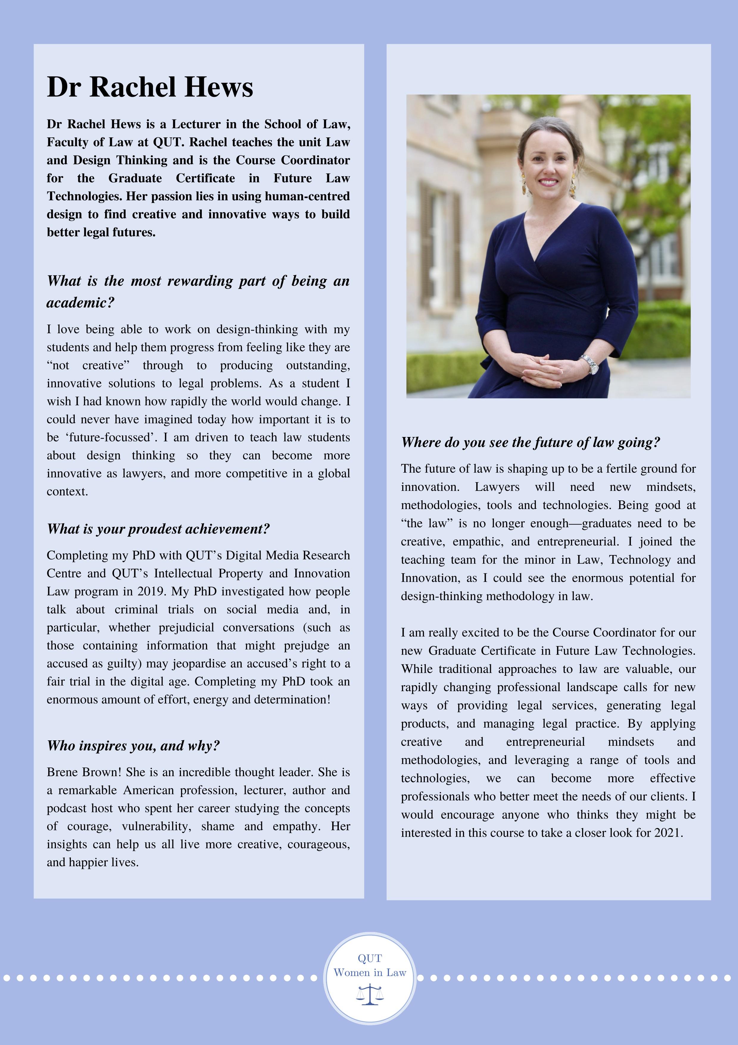 Dr Rachel Hews