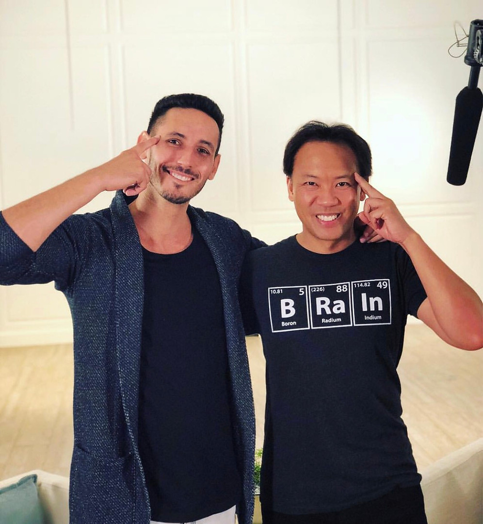 Filming with Jim Kwik (World memory Cham