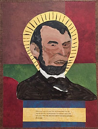 This particular depiction shows Lincoln in a thoughtful and somewhat determined pose. This is indicative as to the type of person he was.   - Thomas Howard