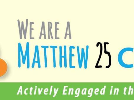 Becoming a Matthew 25 Church
