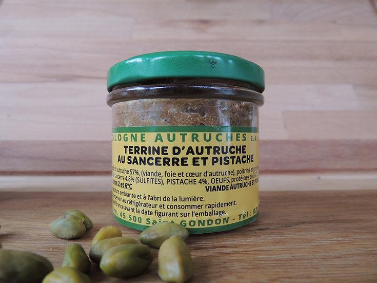 Terrine d'autruche au sancerre et pistache 100g