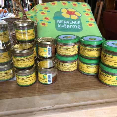 produits boutique de l'autruche