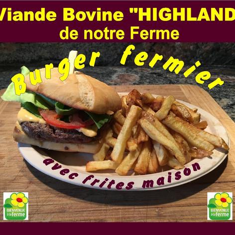 burger viande bovine Highland