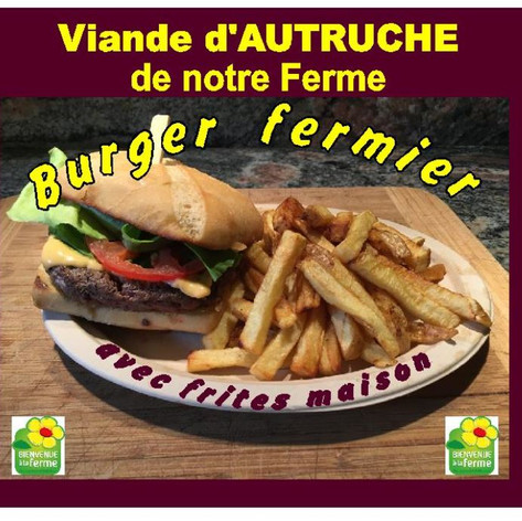 Burger viande d'autruche