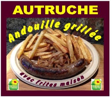Andouille grillée d'autruche