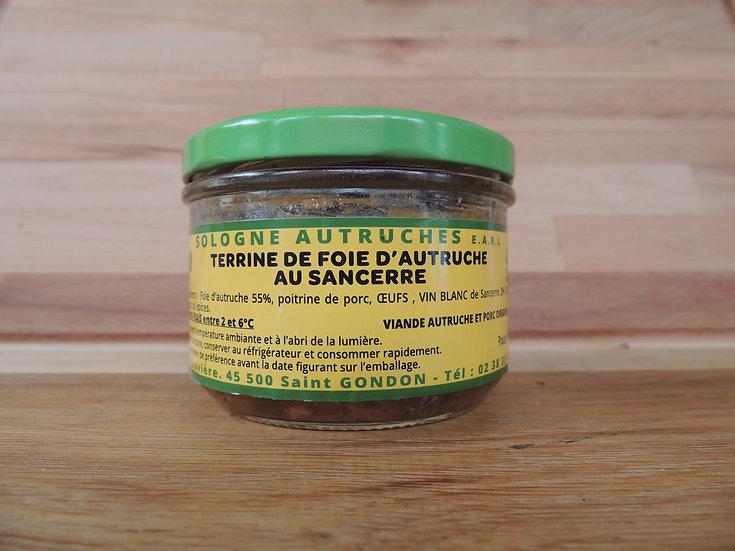 Terrine de foie d'autruche au sancerre 180g