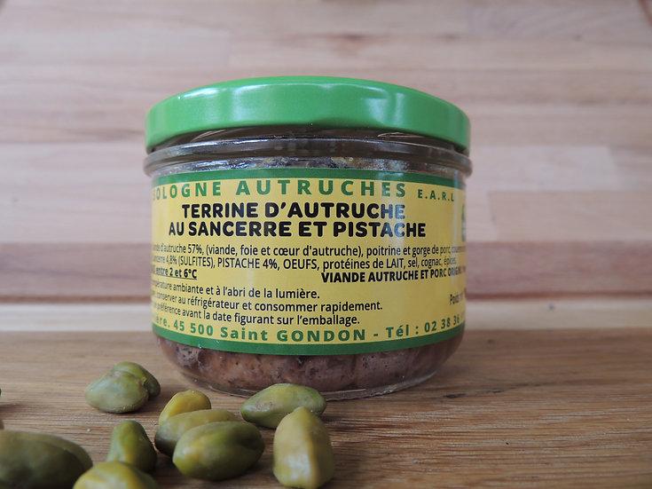 Terrine d'autruche au sancerre et pistache 180g