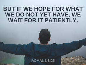 Lord, grant me patience right now! I am tired of waiting!