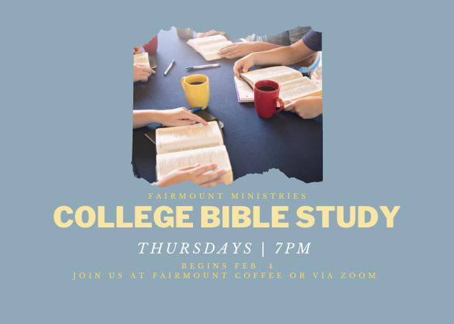 College Bible Study Spr. 2021- web event