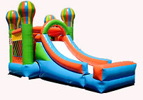 small child jump Castle and Slide combo