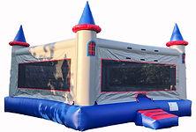 Frozen themed jump castle