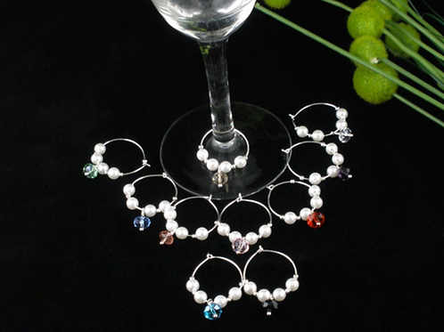 Wine Charms (set of 10) with 6 bot wine purchase