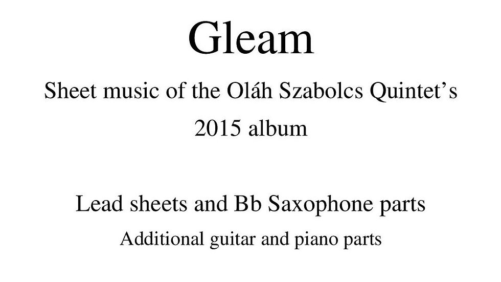 Gleam Album - Sheet Music
