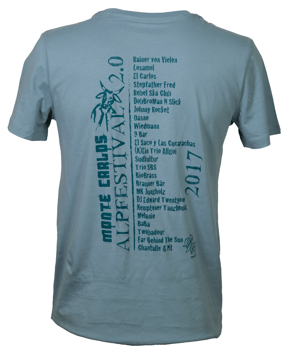 T-Shirt Männer blaugrau