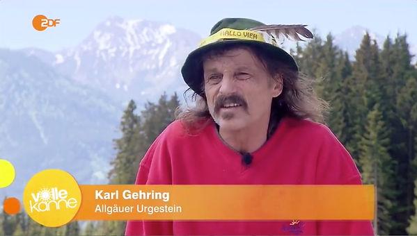 Punkwirt Karl Gehring im ZDF Alpfestival 2.0 Alpe Stubental Jungholz