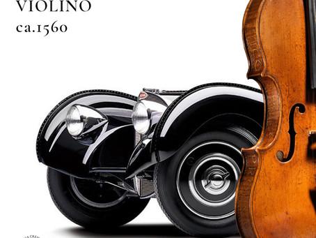 Parallelism : Andrea Amati's violin and Bugatti 57 coupè Atlantic