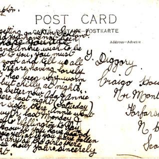 Message on a postcard 2