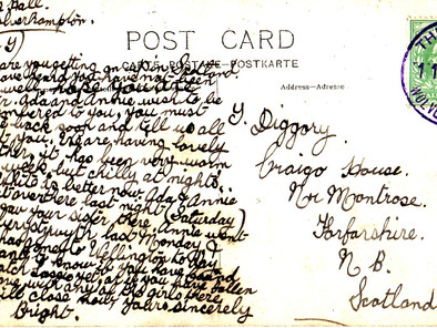 Message on a postcard