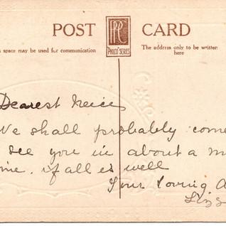 Postcard from Auntie Lizzie