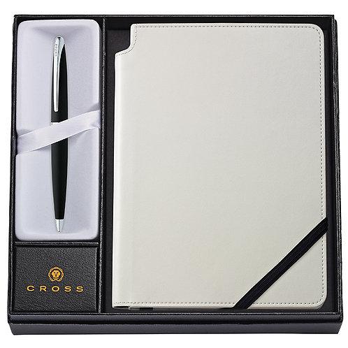 """Cross kuličkové pero """"ATX"""", černé, sada se zápisníkem"""