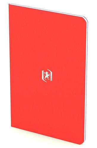 """Oxford zápisník """"Pocket Notes"""", 9x14cm, linkovaný, 24 listů, červený"""
