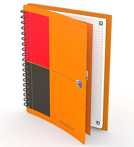 celkový pohled na zápisník Oxford Meetingbook B5 linkovaný