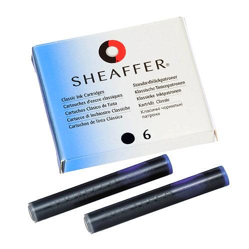 Sheaffer inkoustové bombičky, sada 6ks, černé