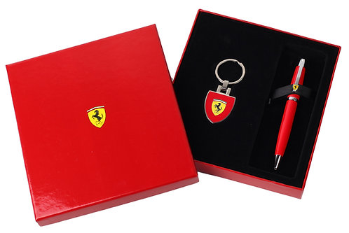 "Sheaffer kuličkové pero ""Ferrari 500"", červené, sada s klíčenkou"