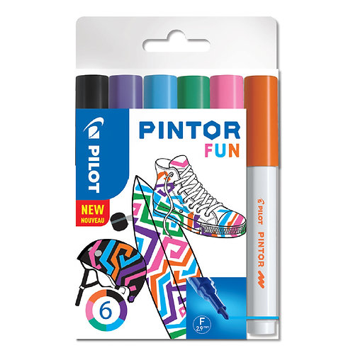 "Pilot dekorativní popisovač ""Pintor"" Fun, sada 6ks, hrot F"