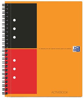 """zápisník """"Activebook"""" A5+ linkovaný 80 listů"""