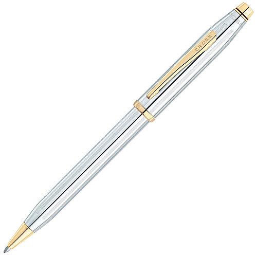 """Cross guľôčkové pero """"Century II"""", chróm so zlatom"""