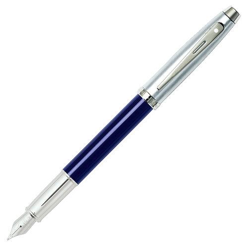 """Sheaffer plnicí pero """"100"""", modré / broušený chrom, hrot F"""