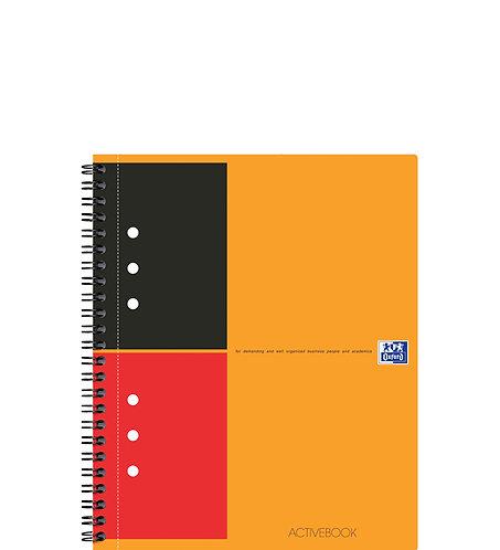 """Oxford zápisník """"Activebook"""", A5+, linkovaný, 80 listů"""