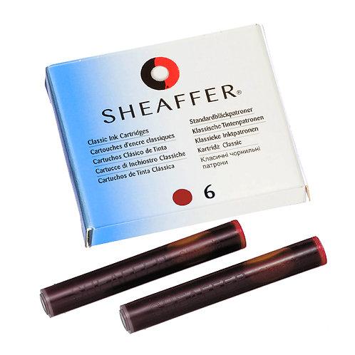 Sheaffer inkoustové bombičky, sada 6ks, červené