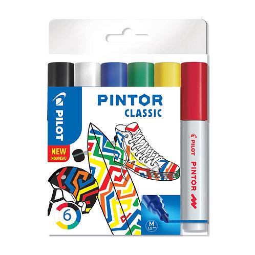 "Pilot dekorativní popisovač ""Pintor"" Classic, sada 6ks, hrot M"
