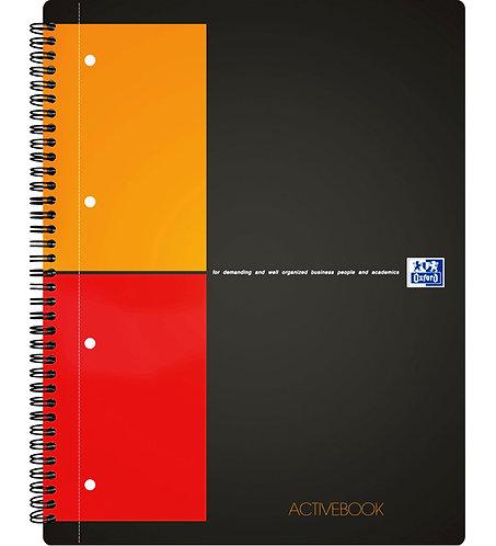 """Oxford zápisník """"Activebook"""", A4+, štvorčekový, 80 listov"""