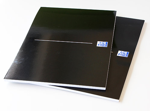 """Oxford blok """"Smart Black"""", A4, štvorčekový, 50 listov"""