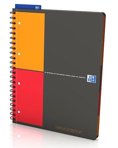 """Oxford zápisník """"Managerbook"""", A4+, linajkový, 80 listov"""