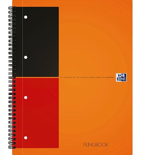 """Oxford záznamová kniha """"Filingbook"""", A4+, linajkový, 100 listov"""