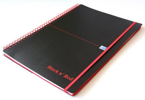 """Oxford zápisník Movebook """"Black n' Red"""", A4, linkovaný, 70 listů"""
