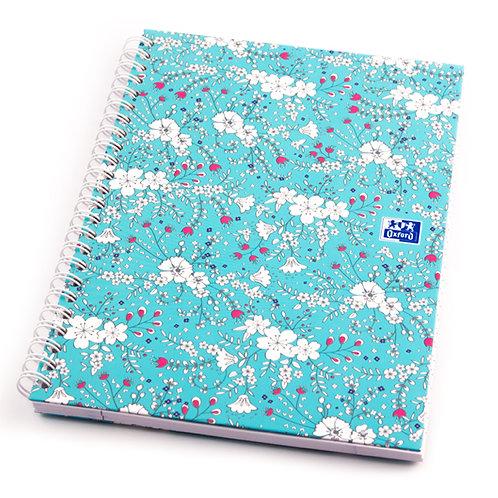 """Oxford zápisník """"Floral"""", A5, linajkový, 60 listov"""