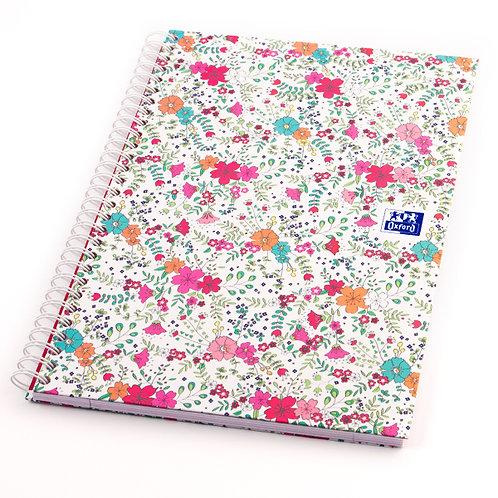 """Oxford zápisník """"Floral"""", B5, linajkový, 60 listov"""